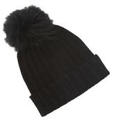 Saks Fifth Avenue Ladder Stitch Cashmere Hat