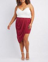 Charlotte Russe Plus Size Draped Asymmetrical Wrap Skirt