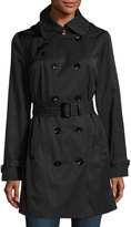 MICHAEL Michael Kors Water-Resistant Double-Breasted Trench Coat, Black