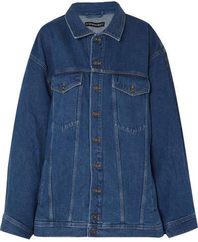 Y/Project Oversized Denim Jacket - Mid denim