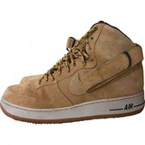 Nike Force 1 Camel Suede Trainers