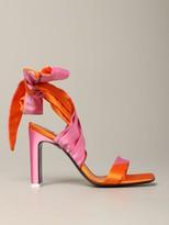 ATTICO Sandal In Two-tone Satin