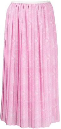See by Chloe Graphic Pleated Skirt