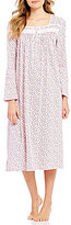Eileen West Floral Peached Jersey Ballet Nightgown