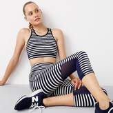 New Balance for J.crew performance mesh-back sports bra in stripe