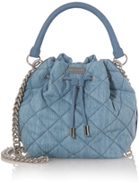 Stella McCartney Beckett Quilted Denim Bucket Bag