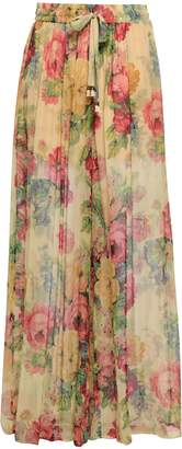 Zimmermann Floral-print Silk-georgette Wide-leg Pants