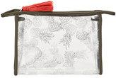 Neiman Marcus Transparent Pineapple-Print Travel Cosmetic Bag
