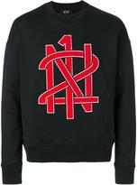 No.21 logo embroidered sweatshirt - men - Cotton - S