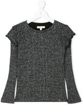 Miss Grant Kids lurex detailing knitted blouse