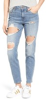 BP Women's Ripped Boyfriend Jeans