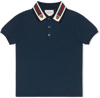 Gucci Kids Tiger Polo Shirt