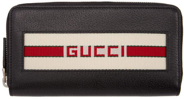 Gucci Black Logo Continental Wallet