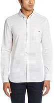 French Connection Men's Boilly Horizontal Long Sleeve Shirt