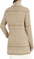 BCBGMAXAZRIA Shadia Textured Jacquard Sweater Coat