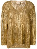 Nude chain detailed cardigan - women - Cotton/Polyamide/Polyester - 44