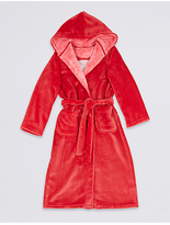 Marks and Spencer Hooded Dressing Gown with Belt (3-14 Years)