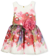 Zoë Ltd Sleeveless Smocked Floral Chiffon Dress, Pink, Size 7-16