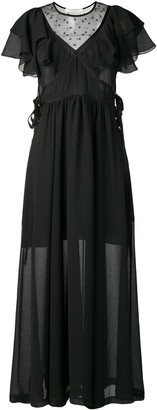 Philosophy di Lorenzo Serafini ruffle maxi dress