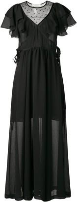 Philosophy di Lorenzo Serafini Ruffle Maxi Dress