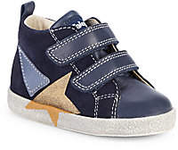 Naturino Baby's & Little Boy's Falcotto Metallic Star Suede & Leather High-Top Sneakers