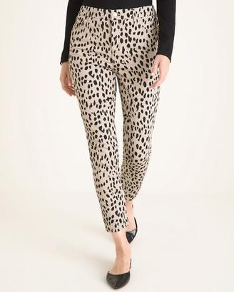 So Slimming Cheetah-Print Girlfriend Ankle Jeans
