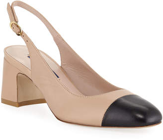 Stuart Weitzman Loraina Two-Tone Slingback Pumps