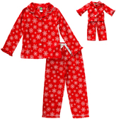 Dollie & Me Red & White Sleep Top Set & Doll Outfit - Girls