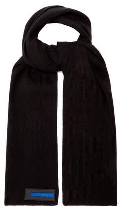 Aries Ribbed Wool-blend Scarf - Black
