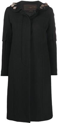 Louis Vuitton Pre-Owned Flower Applique Midi Coat