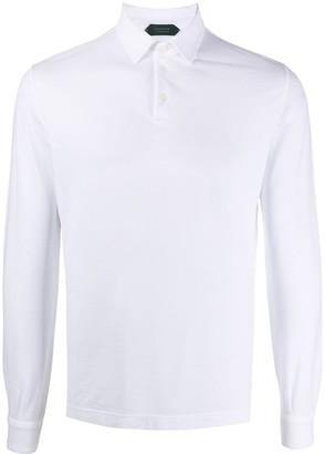 Zanone Point-Collar Long Sleeved Polo Shirt