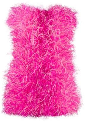 ATTICO The feather mini dress