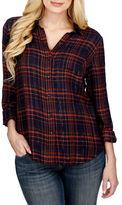 Lucky Brand Long Sleeve Overlay Plaid Shirt