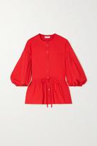 Stine Goya Ferrah Cotton-blend Jersey Peplum Blouse