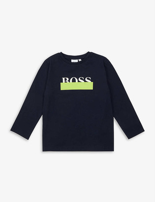 HUGO BOSS Logo-print cotton top 4-16 years
