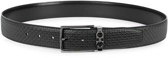 Salvatore Ferragamo Gancini monogrammed leather belt