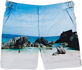 Orlebar Brown Russell Rocky-Beach-Print Swim Trunks