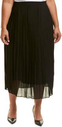 Lea & Viola Plus Pleated Midi Skirt