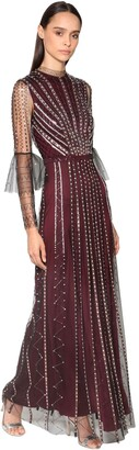 Temperley London Beads & Sequins Embellished Tulle Dress