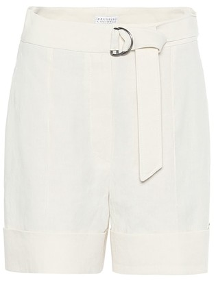 Brunello Cucinelli Exclusive to Mytheresa Linen and cotton shorts