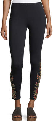 Johnny Was Petite Libbie Embroidered Leggings