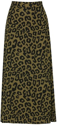 M&Co JDY Leopard print maxi skirt