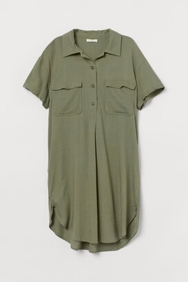 H&M Linen-blend Utility Dress