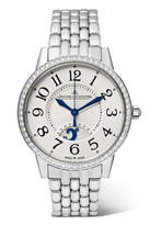 Jaeger-LeCoultre Rendez-vous Night & Day 34mm Stainless Steel And Diamond Watch - Silver