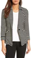 Caslon Petite Women's Knit One-Button Blazer