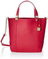 Tommy Hilfiger Hinge Saffiano Leather Convertible Small NS Travel Tote