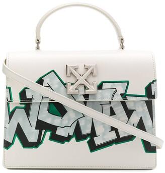 Off-White Jitney graffiti tote