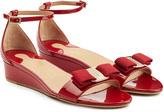 Salvatore Ferragamo Patent Leather Wedge Sandals