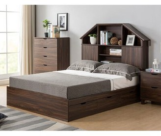 Aloa Chest Storage Platform Bed Red Barrel Studio Color: Dark Walnut, Size: Twin
