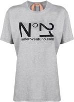 No.21 logo print short-sleeved T-shirt